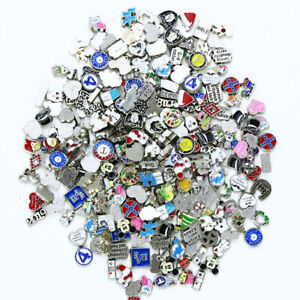 Lot 100PCS Mix Style Floating Charms Fit For Glass Living Memory Floating Locket