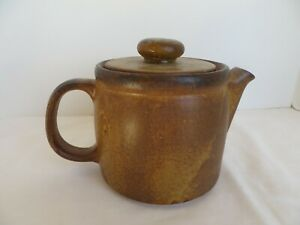 McCoy Tea Pot Stone Ware Brown Coffee Made USA Pottery Vintage