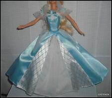 DRESS BARBIE DOLL MATTEL SLEEPING BEAUTY PALE BLUE GOLD EVENING GOWN CLOTHING