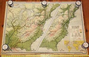Denoyer-Geppert Westward Movement & War Of 1812 Map