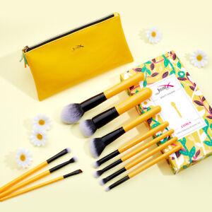Jessup 10Pcs  Makeup Brushes Set Wash Brushes Cleaner + Dry Sponge Cosmetic Tool