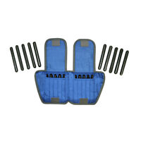 The Adjustable Cuff ankle weight - 10 lb - 20 x 0.5 lb inserts - Blue - each