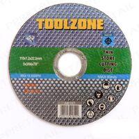 115 x 1.2 x 22.2mm Toolzone C60rbf Stone Cutting Disc - Thin Wheel 115mm Grind