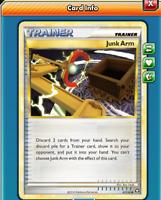 DIGITAL Junk Arm pokemon tcg online