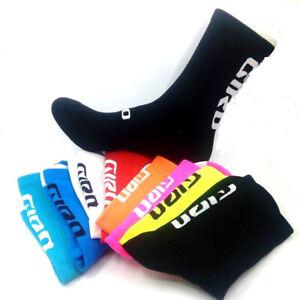 Men Women Cycling Sports Socks Road Riding Bicycle Breathable Socks Black 1Pair