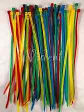 """100 Pcs 8"""" inch Colored Network Cable Cord Wire Tie Strap Zip Nylon"""
