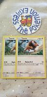 Pokémon TCG 2x Tauros #129/181 Uncommon Tag Team Up Mint English Colorless