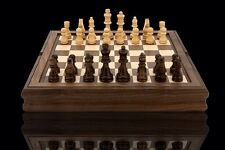 Quality DAL ROSSI Wooden Chess Checkers Backgammon Walnut Board Game Gift (2051)