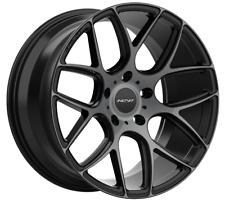 """19"""" INOVIT THRUST Wheels Black Dark Tint Staggered Size 19x8.5 19x9.5 PCD 5x112"""