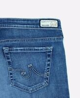 Adriano Goldschmied Womens AG Belle Flare Med Wash Denim Stretch Blue Jeans 32