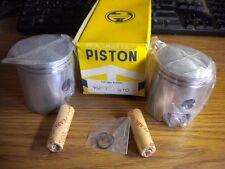 NOS Pair of MC Yamaha Piston w Clips and Pin STD YM1 YM-1 YM2 YM2C 159-11631-00