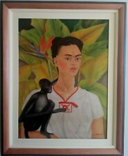 BEAUTIFUL PAINTING FRIDA KAHLO1942 WITH FRAME IN GOOD CONDITION