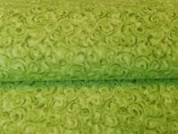 """New Moda By The Yard 45""""W Swirls Tone On Tone Greens Quilting Sewing Crafting"""