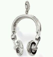 NEW Genuine Thomas Sabo Rebel Sterling Silver Head Phones /DJ / Music T0163 £219