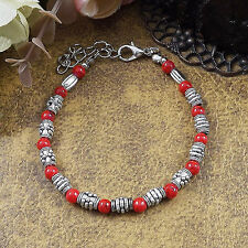 Hot Fashion Tibetan Silver Jewelry Beads Bangle Turquoise Chain Bracelets S38