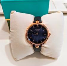 $175 NIB Kate Spade Rose Gold Tone Holland Navy Leather Strap Watch GORGEOUS