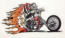 RAT ROD HOT ROD CHOPPER MOTORCYCLE  DECAL STICKER RAT FINK FIRE