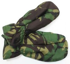 BRITISH ARMY COLD WEATHER SHOOTING MITTS GLOVES in DPM WOODLAND CAMO Size L