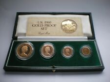 More details for 1980 royal mint gold proof sovereign four coin set