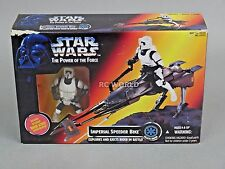 Vintage Star Wars IMPERIAL SPEEDER BIKE w/ BIKER SCOUT Figure #rk1-3