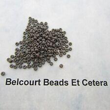 25 Grams Grey Opaque Size 10/0 Czech Glass Preciosa Seed Beads