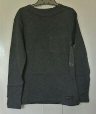 New  Gap 100% cotton long sleeve Dark grey Top age 6-7