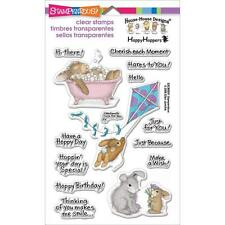Stampendous Clear Stamps - House Mouse Hoppy Moments - Birthday Rabbits