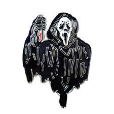 Scream Ghost Knife Gory Horror Movie Enamel Pin Lapel