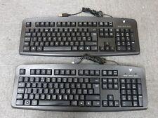 Joblot 2 x V7 KC0D1-5E3P Black Standard Wired USB Computer Desktop PC Keyboard
