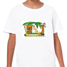 CAMISETA NIÑO Manga Corta Blanca TIKI TOT (4 años)  . rockabilly punk kid shirt
