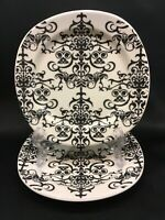 "Pottery Barn Versailles Chandelier Lace 7"" Salad Dessert Plates Set of 2"