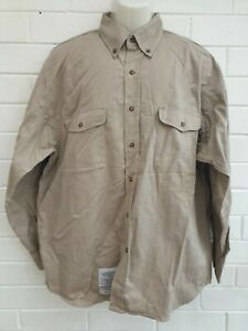 Walls FR Banwear by Itex Mens Long Sleeve Button Up Shirt Size L (42-44)R JE381