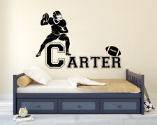 Football Custom Name Decal Nursery Vinyl Sticker for Home Wall Decor