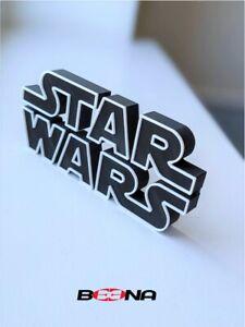 Decorative STAR WARS self standing logo display (Black series white logo)