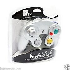 RETRO CONROLLER GAME CUBE & WII SILVER PAD STICK JAPANESE NEW IMPORT JAPAN