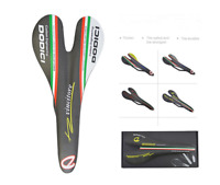 DODICI Carbon Fiber MTB Road Bike Saddle Matte Ultralight Breathable Racing Seat