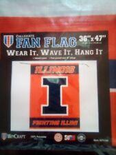 New listing University of Illinois Fighting Illini 3x5 ft Fan Flag 36x47 Ncaa by Wincraft