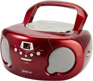 Portable Retro CD Player With Radio 20 Track Memory LCD Display Christmas Gift
