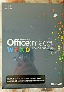 Microsoft Office Mac Home&Business 2011,SKU W6F-00063,Sealed,Full Retail License