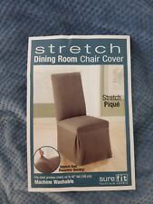 Sure Fit Stretch Pique Federal Blue Dining Chair Slipcover NIP