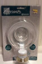 Vtg New Unopened Amerock Clear Glass Wall Mounted Soap Dish Gold & White Mount