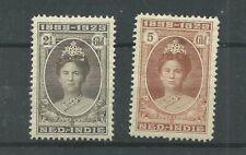 Ned. Indie  165-166 Wilhelmina MH/ongebr CV 200 € met een  dun plekje