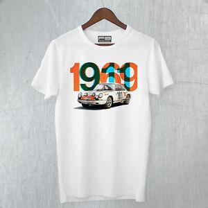 T-shirt Porsche 911 1969 Tour the France Winner Rally Legend Montecarlo FB TEE