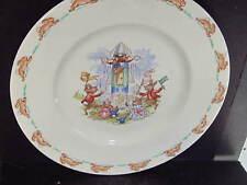 """Royal Doulton Bunnykins 8"""" Plate Rabbits Spaceship"""