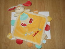 DOUDOU plat chien jaune orange SUPER DOUDOU BABYNAT' Crak BABY NAT rouge