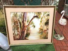 Yarra River at Healesville-Kathy Shell-Artist-Original Watercolour-Framed.Rare.