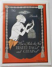 Hiawatha Book Make Vintage Style Beaded Bags Purses -Reprint of 1924 Publication