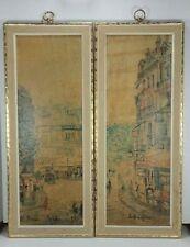 "Set of 2 TURNER WALL ACCESSORY Prints Vintage Retro Paris Maurice Utrillo 22"""