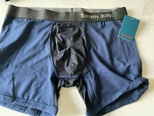 NWT $34 Tommy John Men's Cool Cotton x Air Color-Block Trunks Black/Navy Large