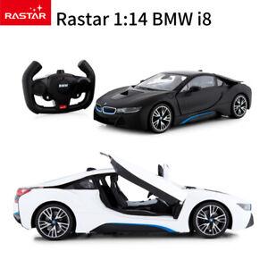 Licensed Rastar 1:14 BMW i8 RC Car Radio Remote Control Car Toy Open Door Racing